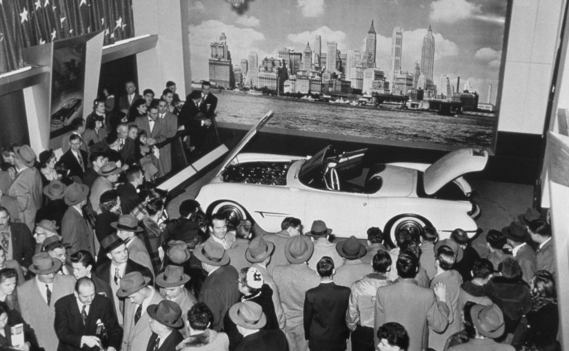 Chevrolet Corvette displayed at the GM Motorama Show Car. 1953.