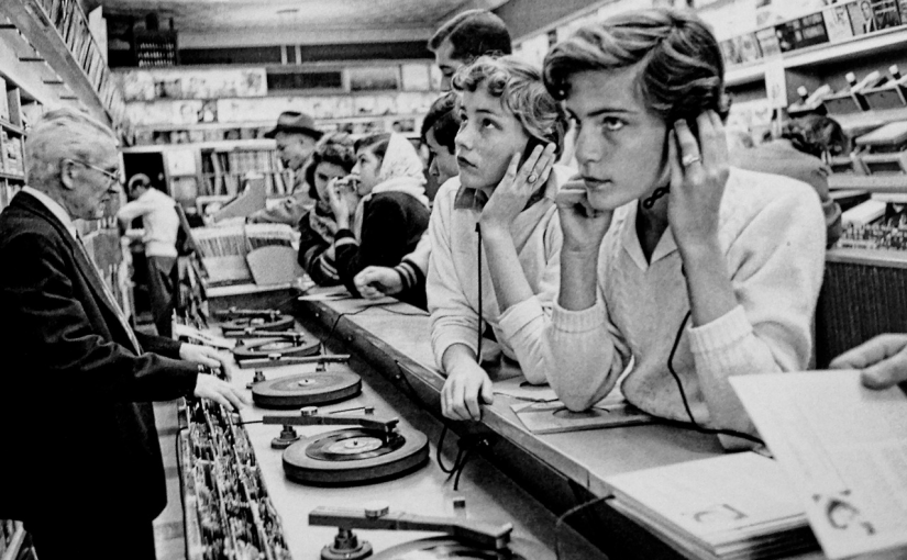 Record store. 1950s.